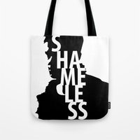 shameless Tote Bags featuring Shameless by trenchcoatandimpala
