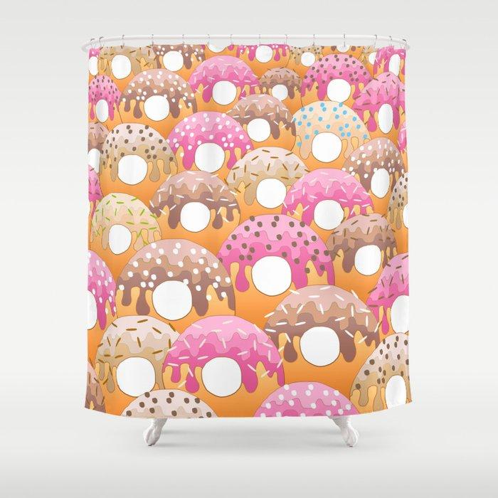 Donuts Wanderlust Shower Curtain