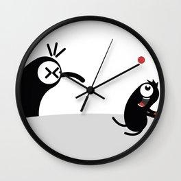 Monztars Playing baseball Wall Clock