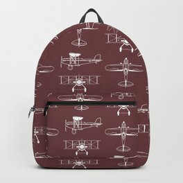 Biplanes // Tosca Red Backpack