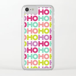 Ho Ho Ho Clear iPhone Case