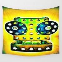 dj Wall Tapestries featuring DJ by Yukska