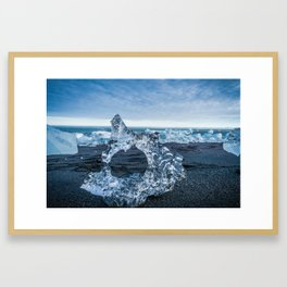 The Ice Horseshoe in Iceland Framed Art Print