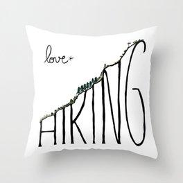 Love Hiking Throw Pillow