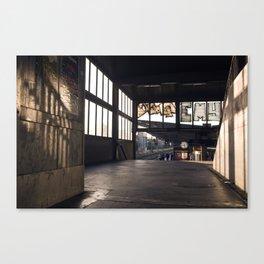 suburban railway station Canvas Print