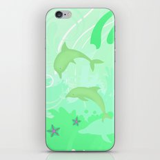 Dolphins Swimming iPhone & iPod Skin