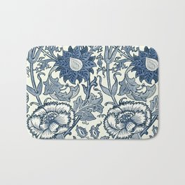 William Morris Navy Blue Botanical Pattern 5 Bath Mat