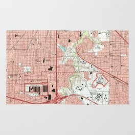 Fort Worth Texas Map (1995) Rug