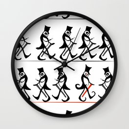 Walk this Way Wall Clock