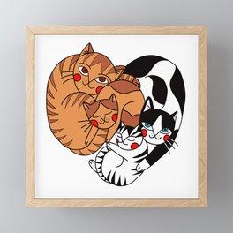Cats family Framed Mini Art Print