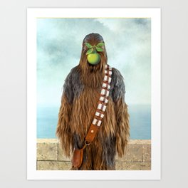 Chewbacca in The Son of A Man Art Print