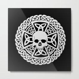 Skull Cross Metal Print