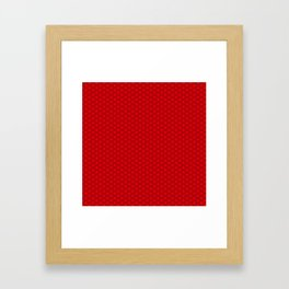 Chinese Scales Red Dragon Framed Art Print