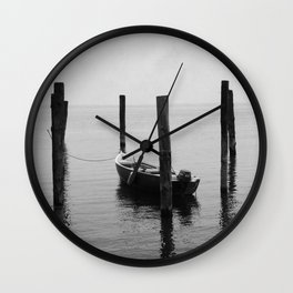 Boat on the lake Wall Clock