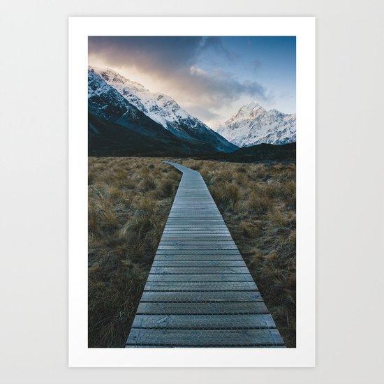 Pathway to Mount Cook Art Print