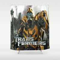 transformers Shower Curtains featuring Transformers by giftstore2u