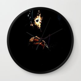 Holding the Spark Wall Clock
