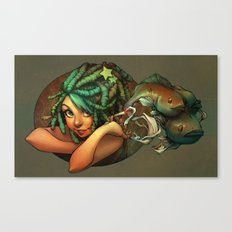 Smoking Fish Canvas Print