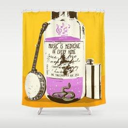 MUSIC IS MEDICINE Shower Curtain