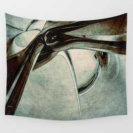 Abstract Blue Form Wall Tapestry