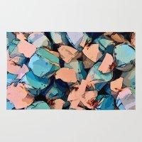 salt water Area & Throw Rugs featuring Salt Water Taffy by Sandra Bauser Digital Art