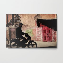 The Biker of Marrakech Metal Print