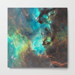 Green Galaxy Metal Print