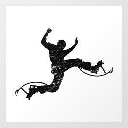 Stilts jump stilts jumping bouncing gift Art Print