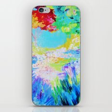 IN DREAMS - Gorgeous Bold Colors, Abstract Acrylic Idyllic Forest Landscape Secret Garden Painting iPhone Skin