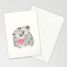 Koalas love hugs Stationery Cards