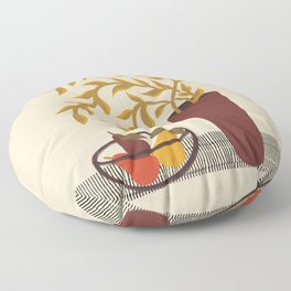 Modern Still Life with Pears Floor Pillow