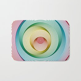 Shifting Circles Bath Mat