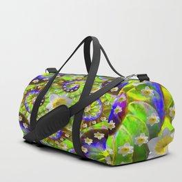 ULTRA VIOLET GREEN DAFFODIL GARDEN MAZE Duffle Bag