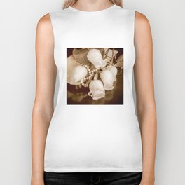 Pearl and roses Biker Tank