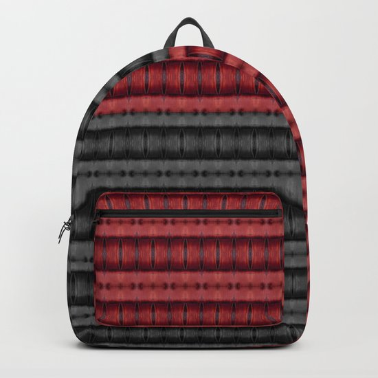 Presence of Anger in Red, Black, and Grey Backpack