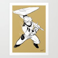 roosterteeth Art Prints featuring [RWBY] Jaune Arc by AikiYun