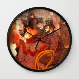 """Henri de Toulouse-Lautrec """"At the Moulins Rouge"""" Wall Clock"""