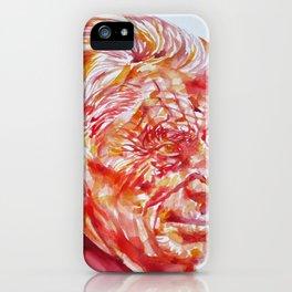 SAMUEL BECKETT watercolor portrait iPhone Case