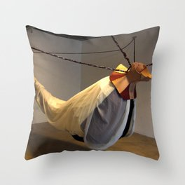 Flying Maiden Throw Pillow