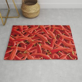 Too many Chillies Rug