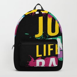 Life s A Rave Festival EDM Backpack