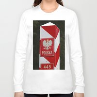 poland Long Sleeve T-shirts featuring Frontier between Poland and Germany by Premium