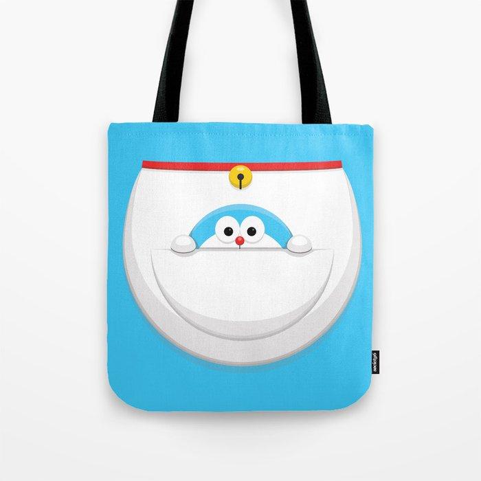 Doraemon Pocket Doraemon Tote Bag By Arvwerks Society6
