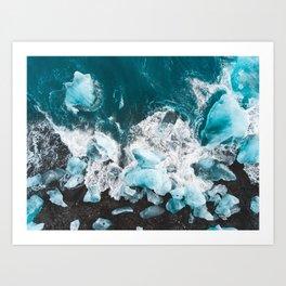 Diamond Beach, Iceland v2 Art Print