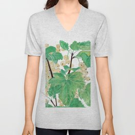 Branch of white currants Unisex V-Neck