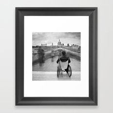 Invisible, Millennium Bridge, London Framed Art Print