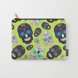 Day Of The Dead, Sugar Skulls Carry-All Pouch