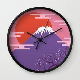 Mountain. Japan. Wall Clock