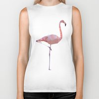 flamingo Biker Tanks featuring Flamingo by Three of the Possessed