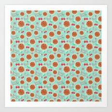 Oh My, Cherry Pie! (Smaller Print) Art Print